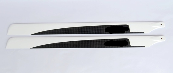 Main Rotor Blades CF Carbon Fiber 600 mm for 3D (Black) RC helic