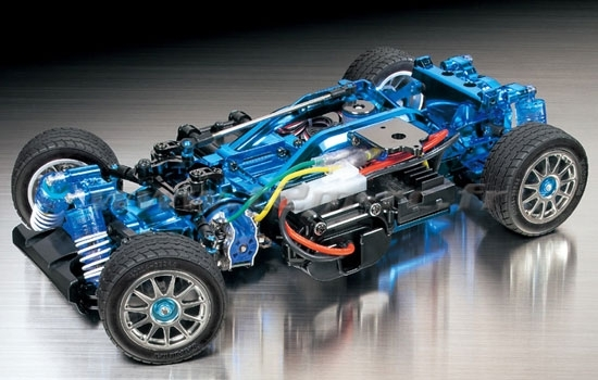 Kit chassis 84131 M05 Pro Blue Plated 1/10