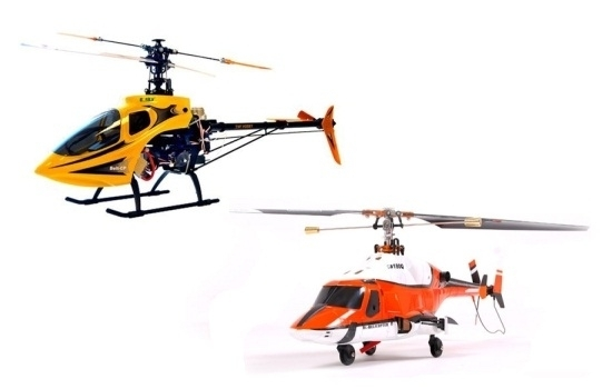 Radio controlled fixed-pitch helicopters...