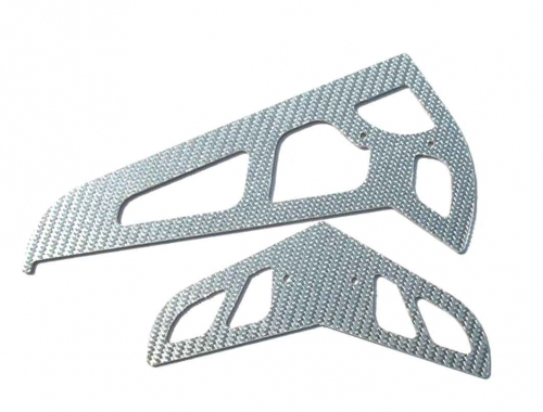 Grey CF Fins for T-rex (1.2MM)