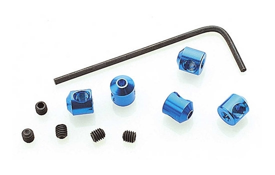 T84304 Stop rings blue anodized