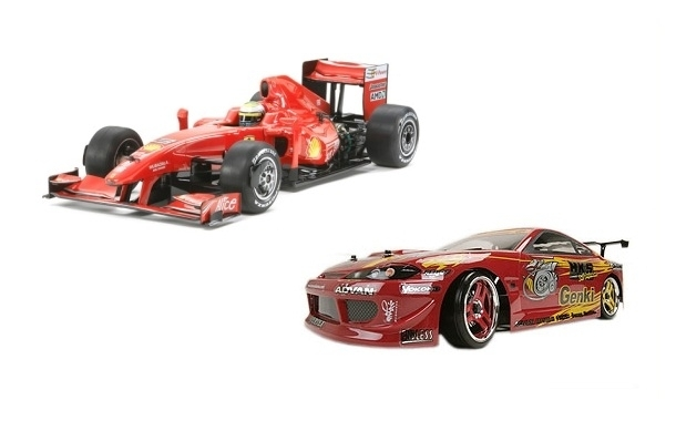 Electric radio controlled on-road cars, drift cars, rally cars F1...