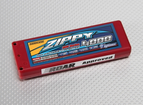 LiPo Voiture 4000mAh 2S1P 25C (ROAR Approved)