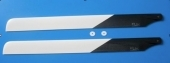 Main Rotor Blades (Carbone) 550 mm RC helicopter