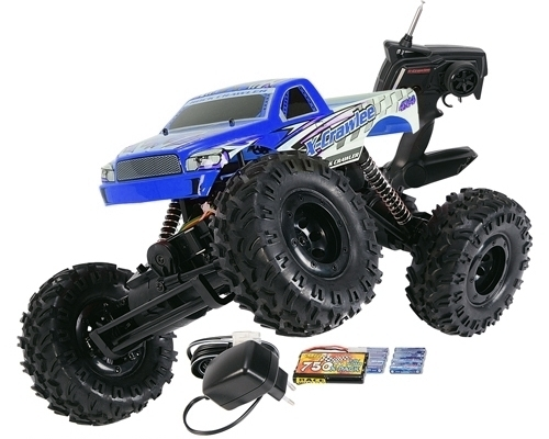 Carson X-Crawlee version bleue 27MHz 1/12 RTR (C500404027)